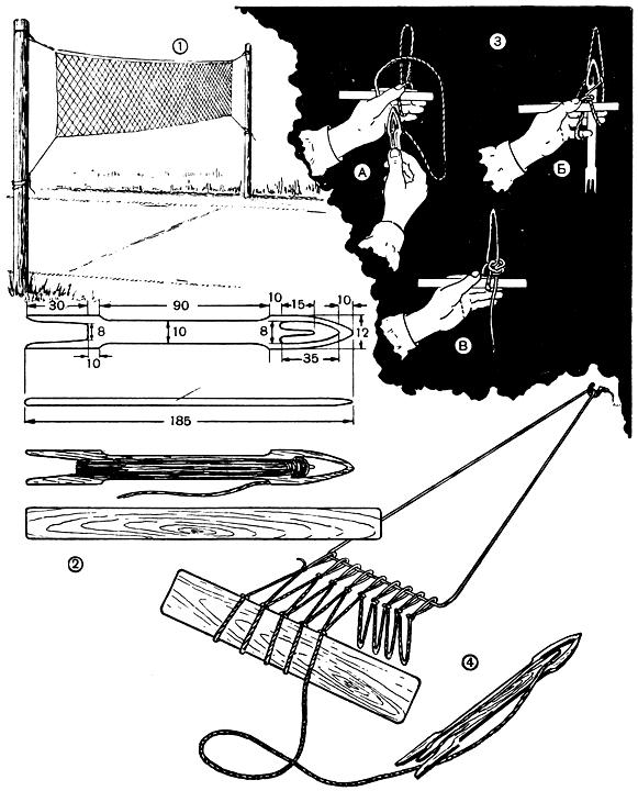 Плетение сетки рыболовной своими руками 76