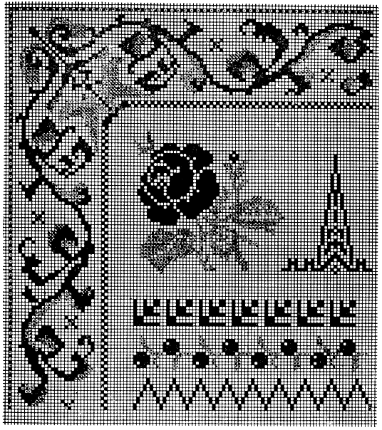 Метки и узоры для вышивания.  Год выпуска: 1913.