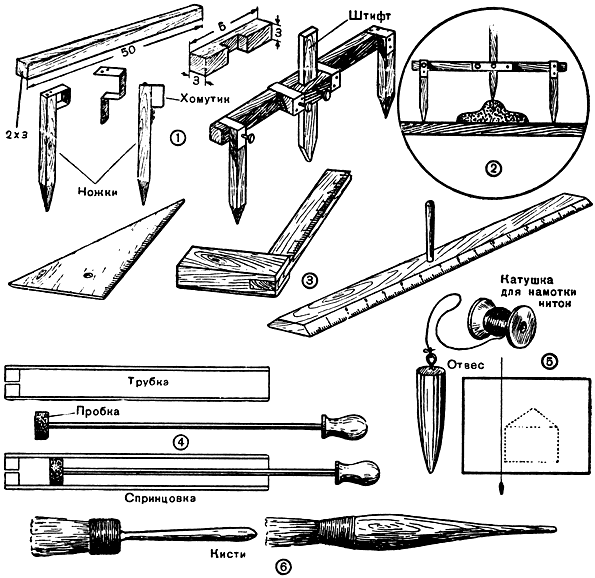 Самодельные инструменты и приспособления, необходимые при лепке.