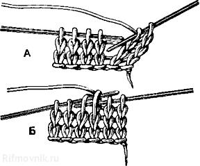 Вязание или вышивание при котором петля заходит за петлю 3