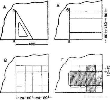 параллелепипеда (А, Б, В,